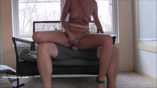 Horny step mom goes WILD! Mega squirting creampie surprise you gotta see!